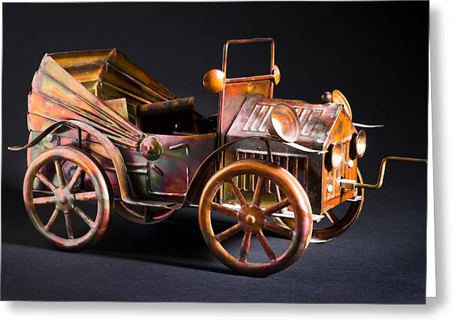 Collectors Toys Photographs Greeting Cards - Toy Car Greeting Card by Donald  Erickson