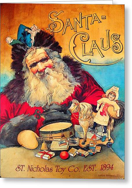 Nicholas Greeting Cards - Toy Company 1894 Greeting Card by Lenore Senior