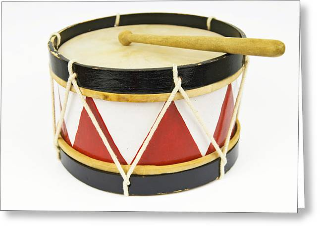 Isolated Object Greeting Cards - Toy Drum Greeting Card by Chevy Fleet