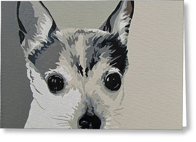 Toy Dogs Paintings Greeting Cards - Toy Fox Terrier Greeting Card by Slade Roberts