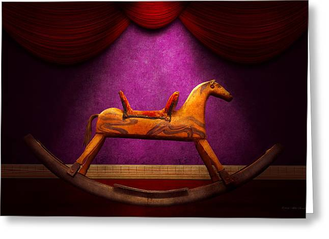 Toy - Hobby horse Greeting Card by Mike Savad
