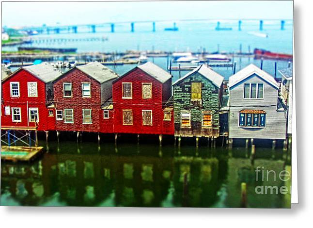Boats On Water Greeting Cards - Toy Houses Greeting Card by Nishanth Gopinathan