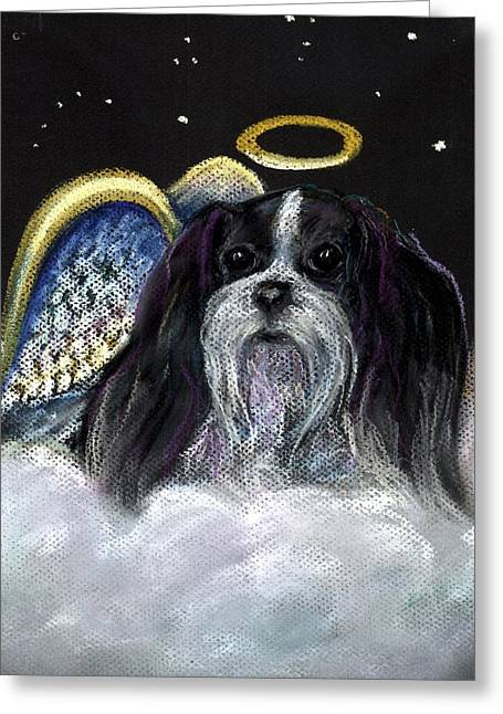 Toys Pastels Greeting Cards - Toy Miki Angel Greeting Card by Darlene Grubbs