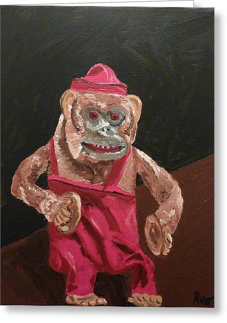 Joshua Redman Greeting Cards - Toy Monkey with Cymbals Greeting Card by Joshua Redman