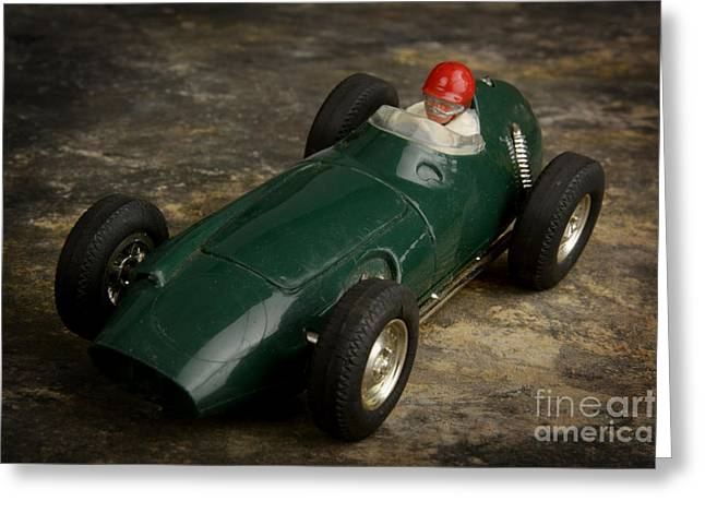 Male Likeness Greeting Cards - Toy race car Greeting Card by Bernard Jaubert
