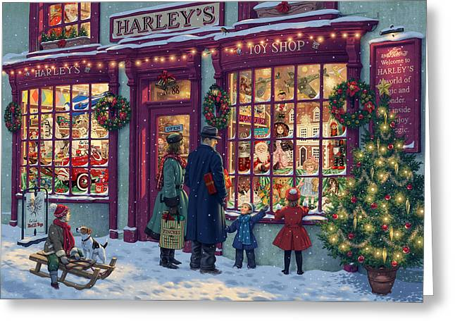 Toy Shop Greeting Cards - Toy Shop Variant 2 Greeting Card by Steve Read