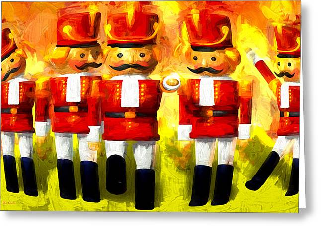 Fantasy Greeting Cards - Toy Soldiers Nutcracker Greeting Card by Bob Orsillo