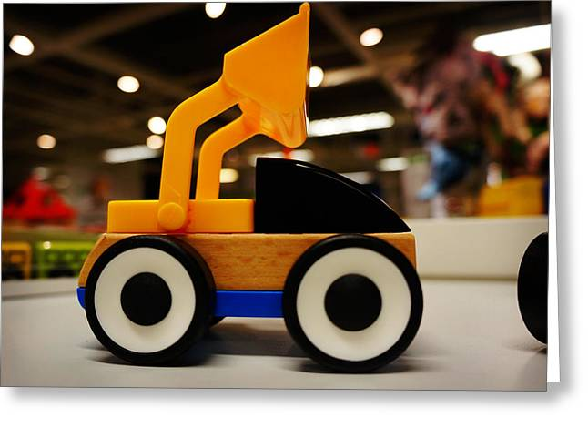 Drive In Style Greeting Cards - Toy Vehicle Greeting Card by Celestial Images