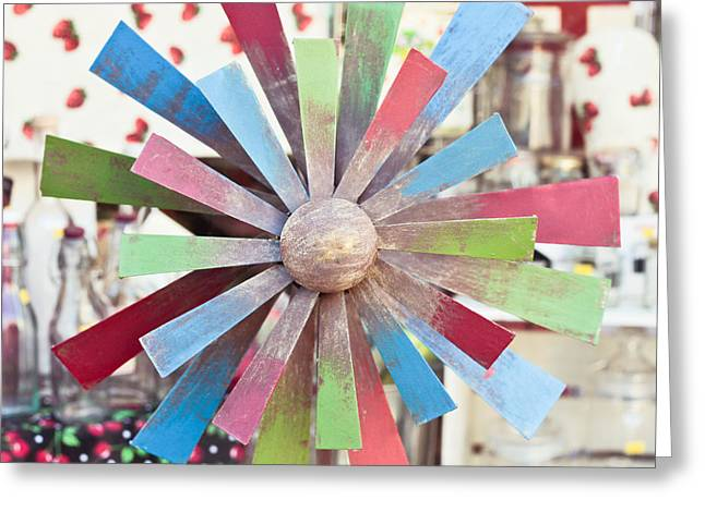 Toy windmill Greeting Card by Tom Gowanlock
