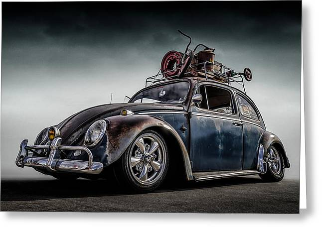 Rusted Cars Digital Greeting Cards - Toyland Express Greeting Card by Douglas Pittman