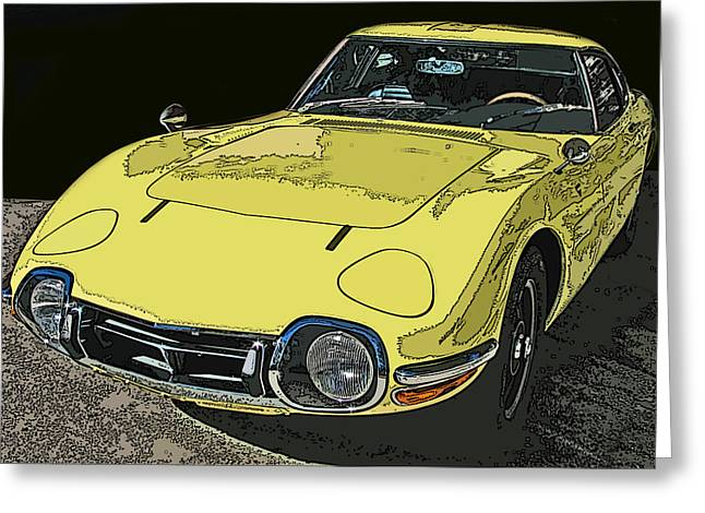 Toyota 2000 GT Greeting Card by Samuel Sheats