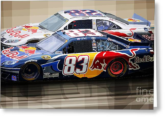 Cup Mixed Media Greeting Cards - Toyota Camry Nascar Nextel Cup 2007 Greeting Card by Yuriy  Shevchuk