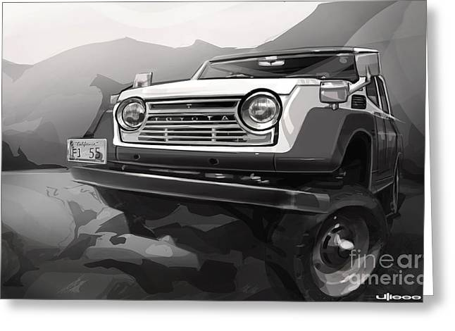 Off-road Greeting Cards - Toyota FJ55 Land Cruiser Greeting Card by Uli Gonzalez