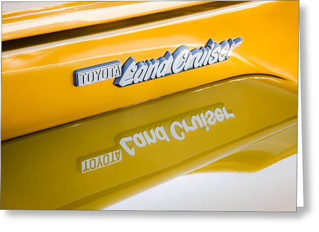 Toyota Land Cruiser Emblem  Greeting Card by Jill Reger