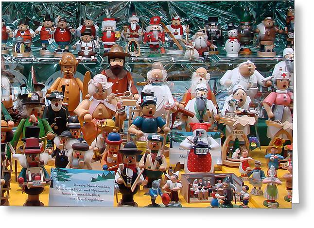 Toy Shop Greeting Cards - Toys and Nutcrackers for Sale Greeting Card by Ronda Broatch