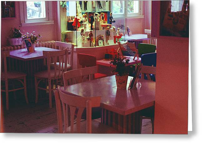 Toy Shop Greeting Cards - Toys Coffee Shop  Greeting Card by Selim Cherif