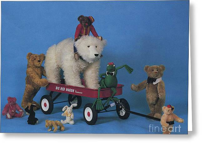 Pen And Paper Greeting Cards - Toys from The Roosevelt Bear Company 1989 Greeting Card by Cathy Peterson