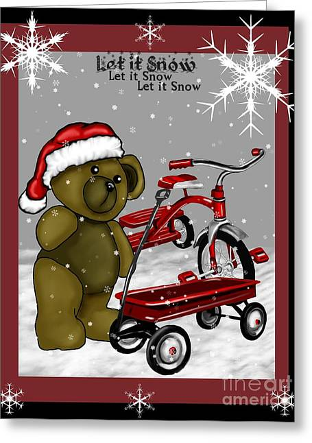 Wagon Mixed Media Greeting Cards - Toys Greeting Card by Karen Sheltrown