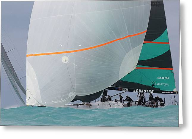Tp52 Greeting Cards - TP52 Championship Miami Greeting Card by Steven Lapkin