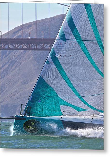 Tp52 Greeting Cards - TP52 on San Francisco Bay Greeting Card by Steven Lapkin