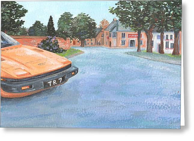 Driving Greeting Cards - Tr7 Greeting Card by Peter Adderley