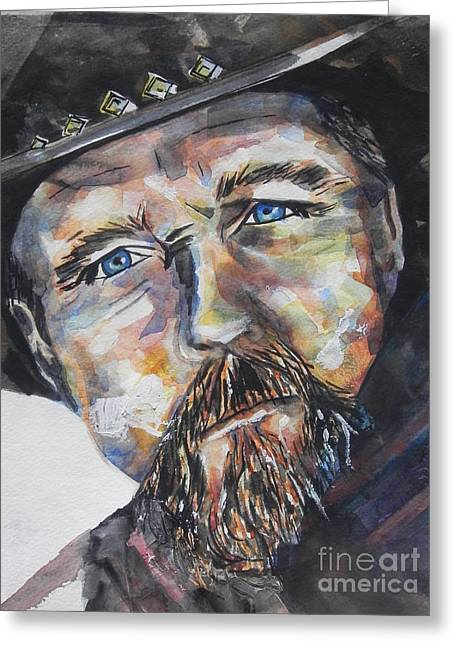 Trace Adkins..country Singer Greeting Card by Chrisann Ellis