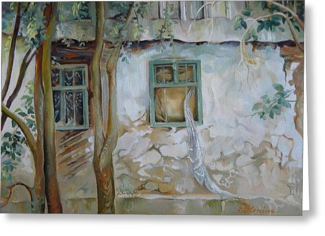 Abandoned House Paintings Greeting Cards - Traces of time Greeting Card by Elena Oleniuc