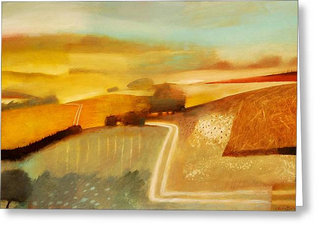 Rural Landscapes Paintings Greeting Cards - Track Greeting Card by Charlie Baird