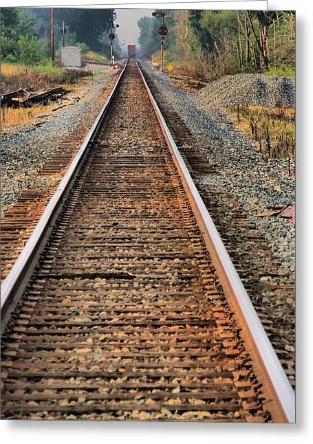 Train Crossing Greeting Cards - Track Greeting Card by Dan Sproul