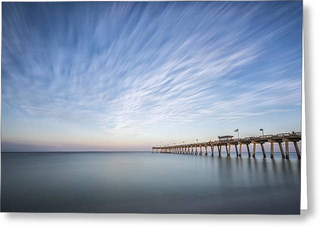 Pier Prints Greeting Cards - Tracking the Sky Greeting Card by Jon Glaser