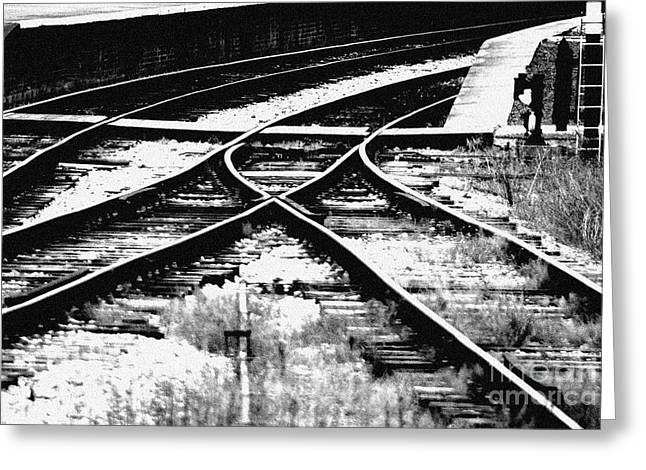Tracks Greeting Card by Alan Oliver