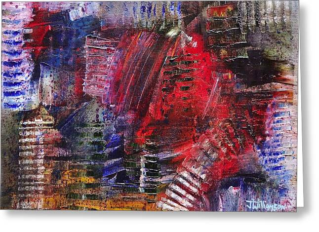 Pallet Knife Greeting Cards - Tracks And Treads Greeting Card by Jason Williamson