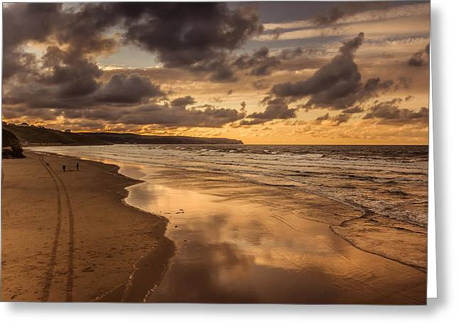Footsteps Greeting Cards - Tracks in the sand Greeting Card by Chris Fletcher
