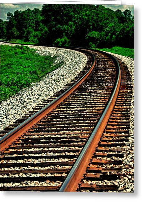 Dave Bosse Greeting Cards - Tracks to Infinity Greeting Card by Dave Bosse
