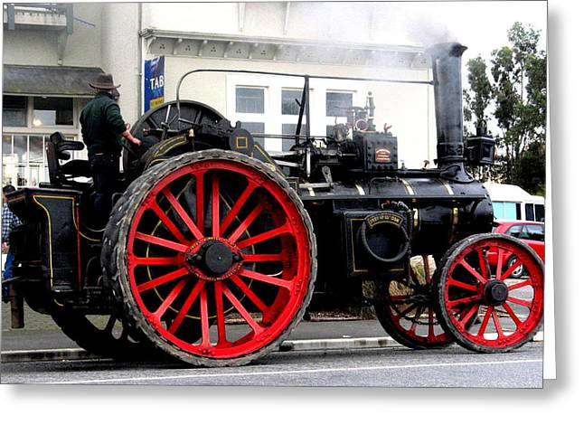Joyce Woodhouse Greeting Cards - Traction Engine  Greeting Card by Joyce Woodhouse