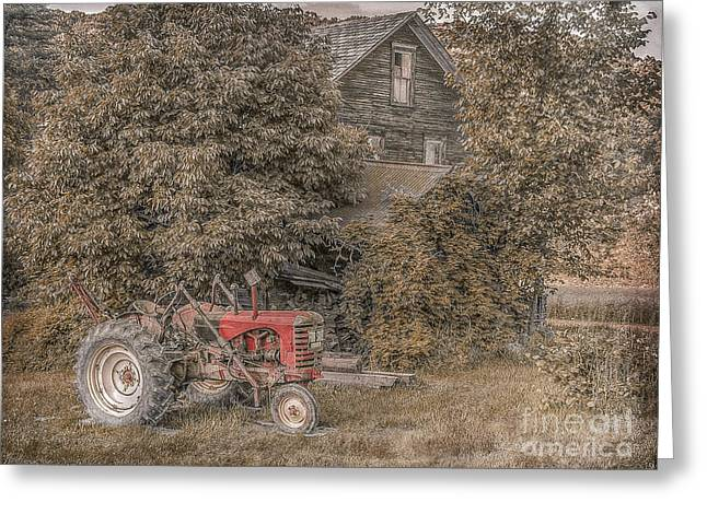 Mccormick Farmall Greeting Cards - Tractor For Sale Greeting Card by Randy Steele