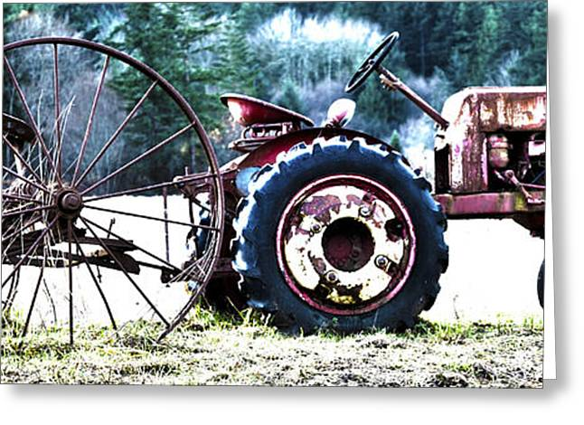Mechanism Greeting Cards - Tractor Hdr Greeting Card by Graham Foulkes