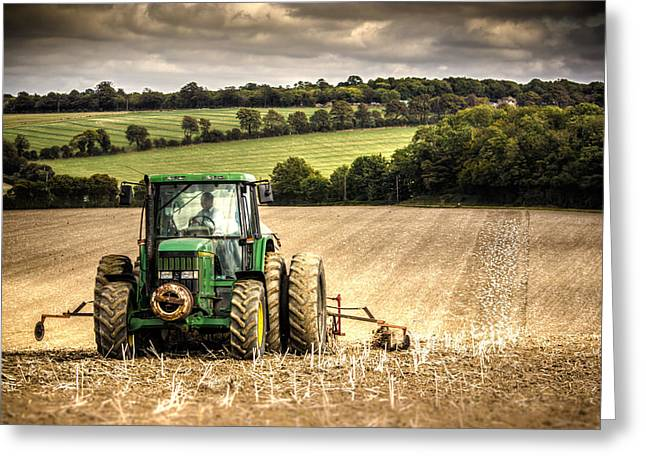 Tractors Greeting Cards - Tractor Greeting Card by Ian Hufton