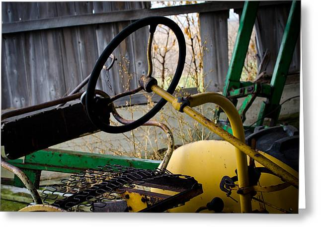 Tractor Greeting Card by Off The Beaten Path Photography - Andrew Alexander