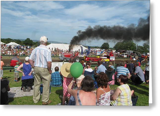 Airoplane Greeting Cards - Tractor Pulling Greeting Card by Errol  Jameson