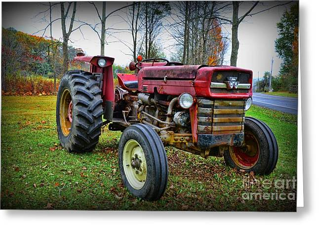 Harvest Time Photographs Greeting Cards - Tractor - The Farmers Car Greeting Card by Paul Ward