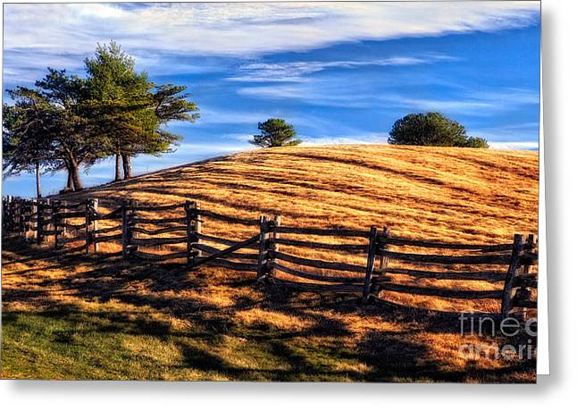 Tractor Trails - Blue Ridge Parkway Greeting Card by Dan Carmichael