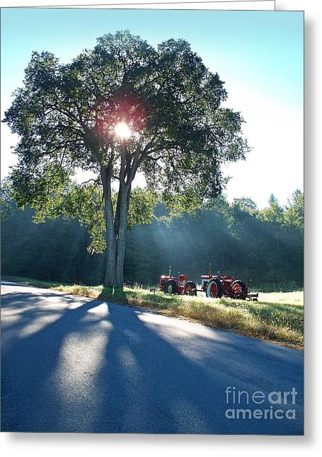 Rural Maine Roads Greeting Cards - Tractors Greeting Card by Joy Nichols