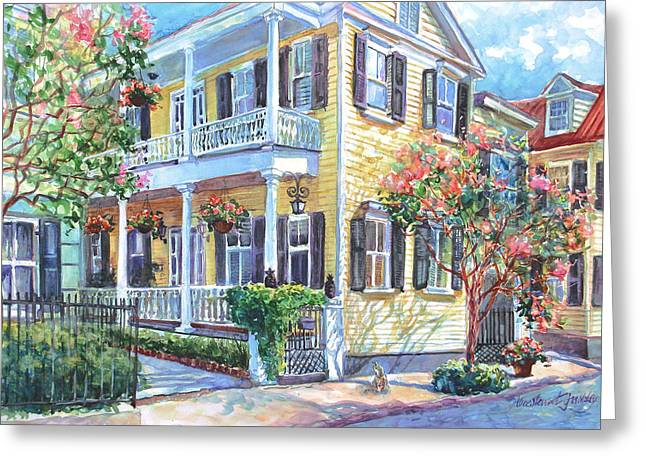 Charleston Greeting Cards - Tradd Street Textures Greeting Card by Alice Grimsley