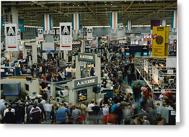 Trade Show In A Hall, Mccormick Place Greeting Card by Panoramic Images