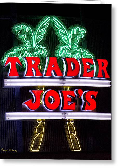 Grocery Store Greeting Cards - Trader Joe Sign Greeting Card by Chuck Staley