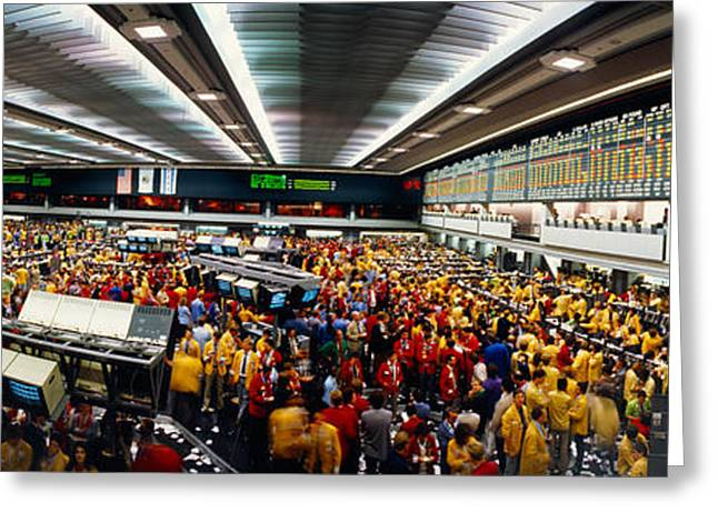 Traders In A Stock Market, Chicago Greeting Card by Panoramic Images