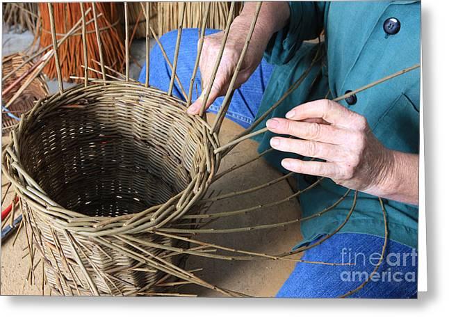 Basket Maker Greeting Cards - Traditioinal Basket Maker Greeting Card by Paul Felix