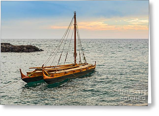 Wooden Ship Greeting Cards - Tradition at Sea Greeting Card by Jamie Pham
