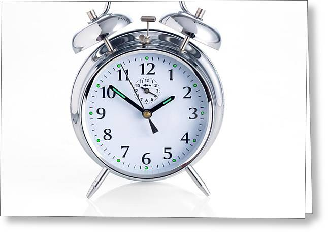 Traditional Alarm Clock Greeting Card by Science Photo Library